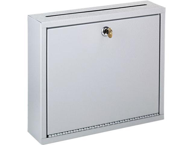 Buddy Products 5625-32 Wall-Mountable Interoffice Mail Collection Box, 12w x 3d x 10h, Platinum