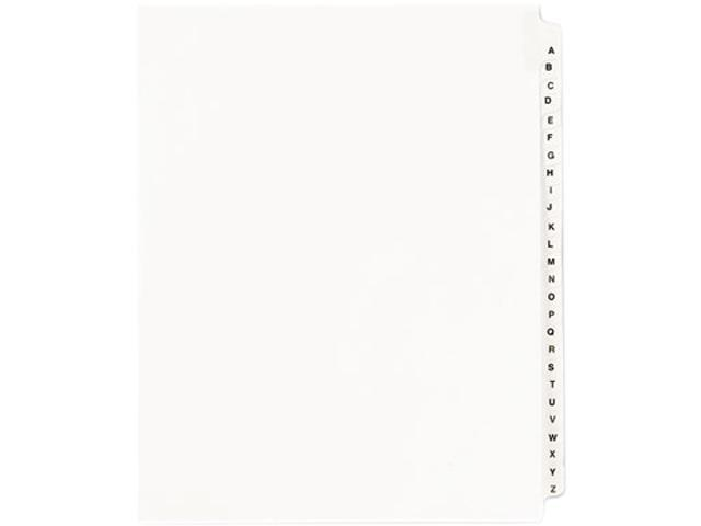 Avery 01400 Avery-Style Legal Side Tab Divider, Title: A-Z, Letter, White, 1 Set