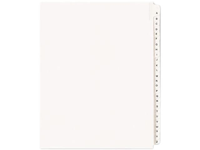 Avery 01700 Allstate-Style Legal Side Tab Dividers, 26-Tab, A-Z, Letter, White, 25/Set