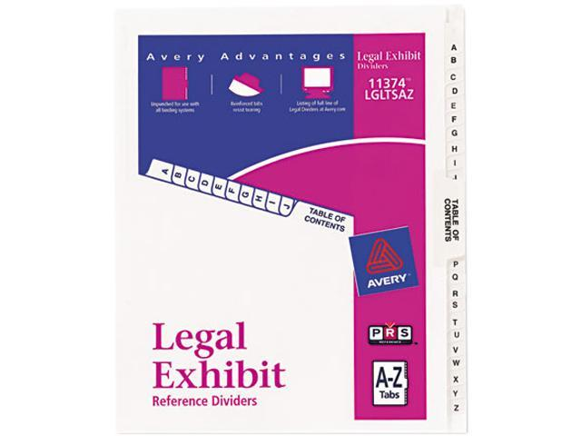 Avery 11374 Avery-Style Legal Side Tab Divider, Title: A-Z, Letter, White, 1 Set
