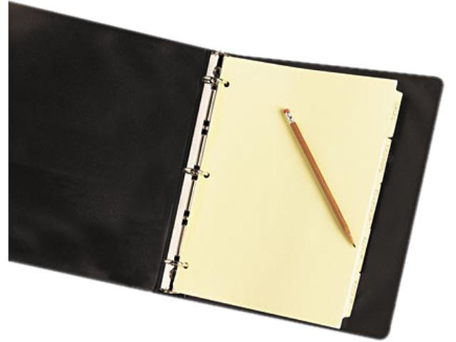 Avery 11501 Write-On Plain Tab Dividers, 5-Tab, Letter, Buff, 36 Sets/Box