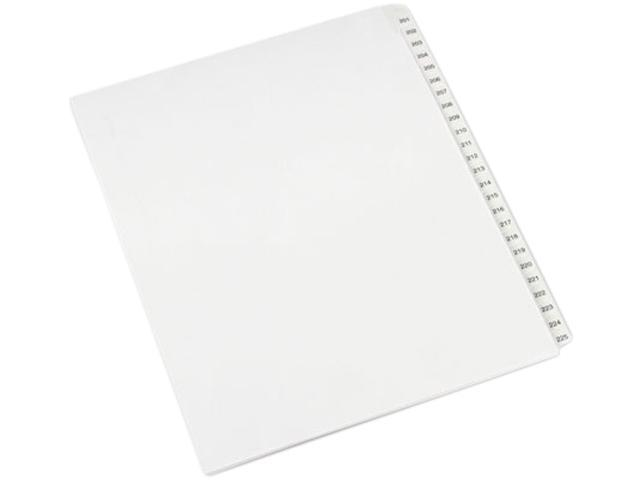 Avery 82191 Allstate-Style Legal Side Tab Dividers, 25-Tab, 201-225, Letter, White, 25/Set