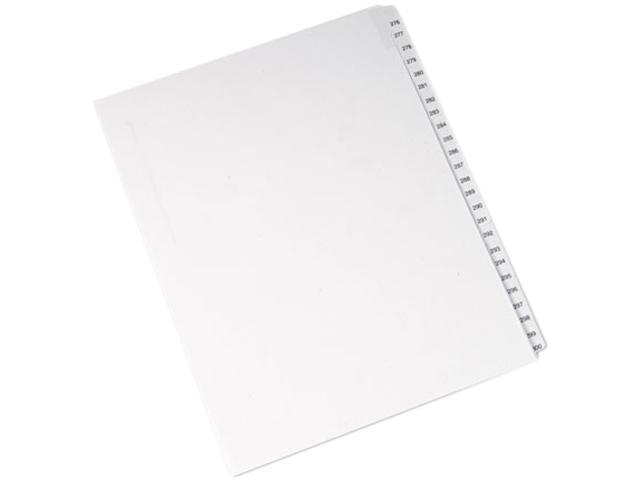 Avery 82194 Allstate-Style Legal Side Tab Dividers, 25-Tab, 276-300, Letter, White, 25/Set