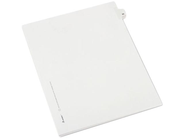 Avery 82221 Allstate-Style Legal Side Tab Divider, Title: 23, Letter, White, 25/Pack