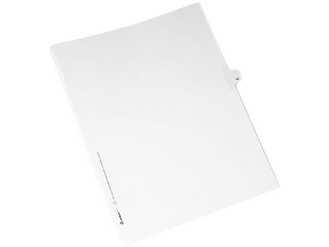 Avery 82238 Allstate-Style Legal Side Tab Divider, Title: 40, Letter, White, 25/Pack