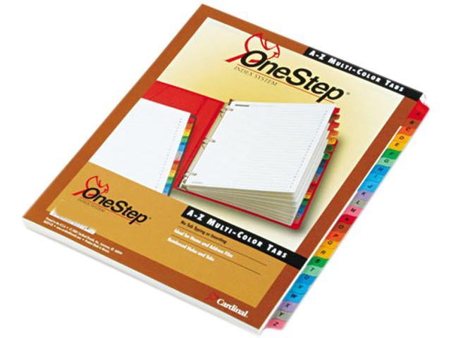 Cardinal 60218 Traditional OneStep Index System, 26-Tab, A-Z, Letter, Assorted, 26/Set