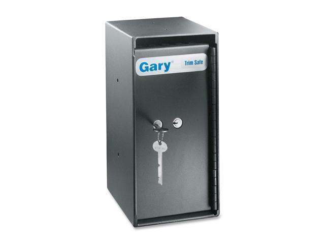 FireKing MS1206 Theft-Resistant Compact Cash Trim Safe, .2 ft, 6w x 7d x 12h, Black