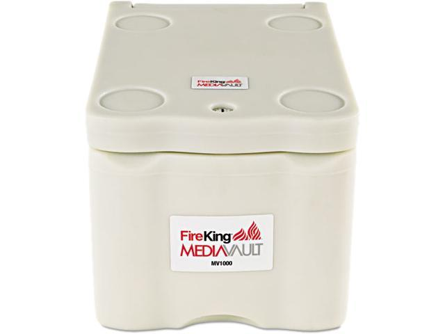 FireKing MV1000 MediaVault, 11-5/8w x 17-1/2d x 10-1/2h, UL Listed 125° for Fire, White
