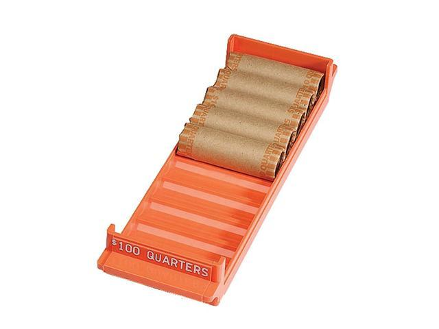MMF Industries 212082516 Porta-Count System Rolled Coin Plastic Storage Tray, Orange