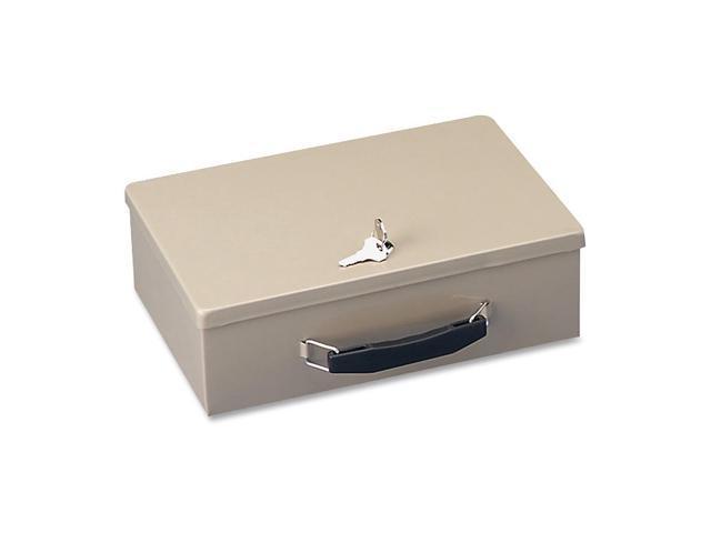 STEELMASTER by MMF Industries 221614003 Heavy-Duty Steel Fire-Retardant Security Cash Box, Key Lock, Sand