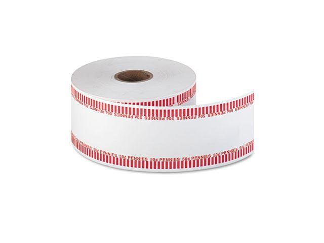 MMF Industries 2160651A07 Automatic Coin Flat Wrapper Rolls, Pennies, $.50, 1900 Wrappers/Roll