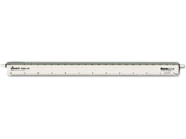 "Chartpak 238 Adjustable Triangular Scale Aluminum Architects Ruler, 12"", Silver"