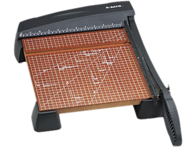 "X-ACTO 26312 Heavy-Duty Paper Trimmer, 10 Sheets, Wood Base, 12"" x 12"""