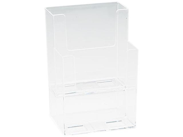 Extra-Deep Flat Back Display, 2 Compartments, 4-1/2w x 3-3/4d x 7h, Clear