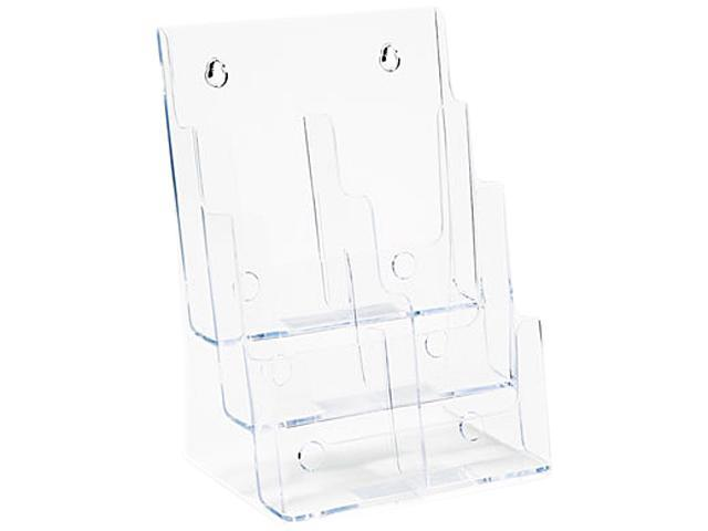 Multi Compartment DocuHolder, 6 Compartments, 9w x 7-1/2d x 13-3/4h, Clear