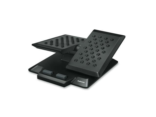 Fellowes 8037901 Independent Movement Foot Support, Massage Bumps, 4 3/8 x 16 1/4 x 16 1/4, Black