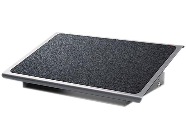 3M FR530CB Adjustable Steel Footrest, Nonslip Surface, 22w x14d, Charcoal/Black