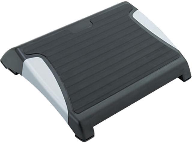 Safco 2120BL Restase Adjustable Footrest, Black w/Silver Accents.