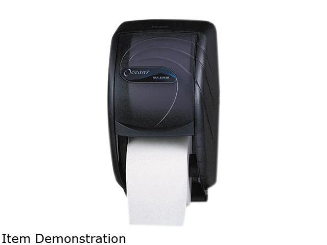 San Jamar R3590TBK Duett Toilet Tissue Dispenser, 7 1/2 x 7 x 12 3/4, Black Pearl