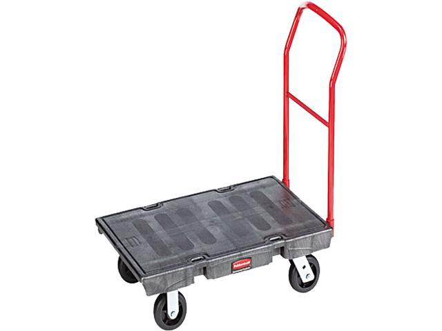 Rubbermaid Heavy-Duty Platform Truck Cart, 1000lb Capacity, 24 x 48 Platform, Black