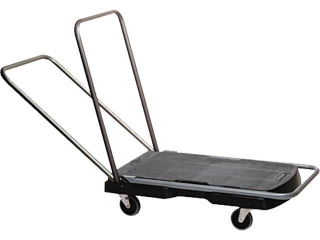 Rubbermaid Commercial 440000 Utility-Duty Home/Office Cart, 250 lb Capacity, 20-7/8 x 31-3/4 Platform, BK