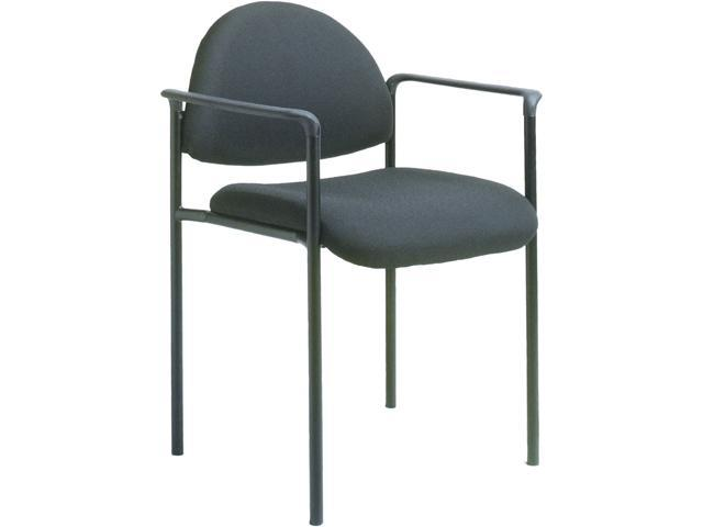 BOSS Office Products B9501-BK Stacking Chairs