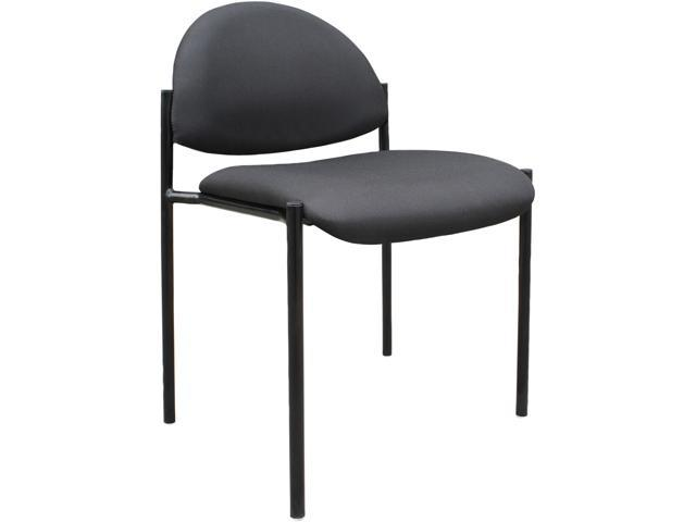 BOSS Office Products B9505-BK Stacking Chairs