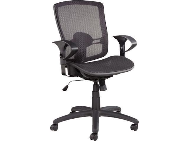 Alera Etros Series ET4218 (ALEET4218) Suspension Mesh Mid-Back Synchro Tilt Chair, Mesh Back/Seat, Black