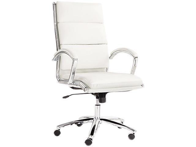 Alera Neratoli Series NR4106 (ALENR4106)High-Back Swivel/Tilt Chair, White Faux Leather, Chrome