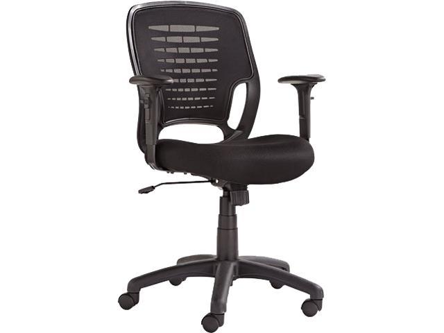 OIF OIFEM4817 - Swivel/Tilt Mesh Task Chair, Black Arms/Base, Black