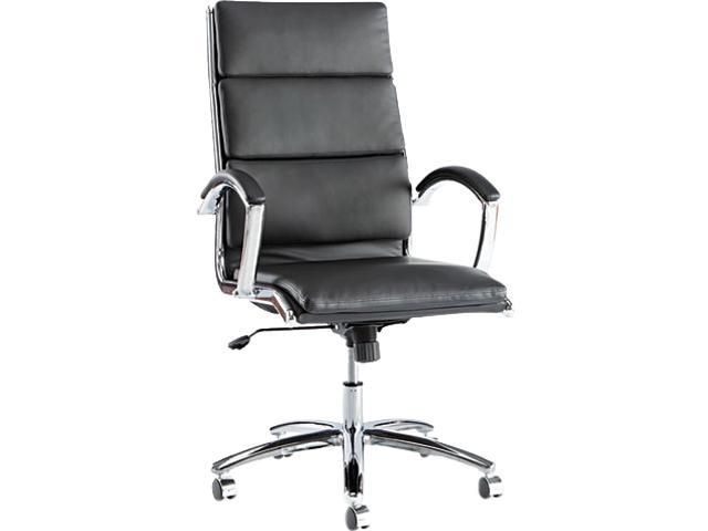 Alera Neratoli Series NR4119 (ALENR4119)High-Back Swivel/Tilt Chair, Black Soft Leather, Chrome Frame