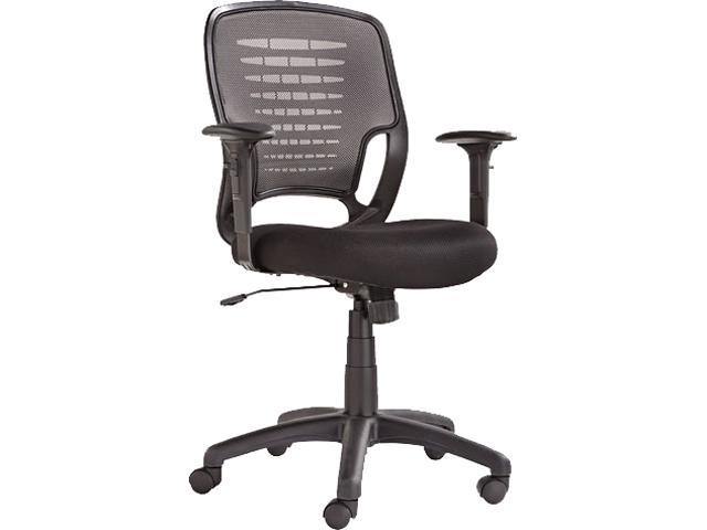 OIF OIFEM4847 - Swivel/Tilt Mesh Task Chair, Black Arms/Base, Gray