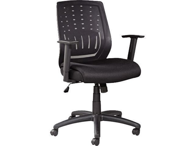 Alera ALEEK4217 Eikon Series Mesh Manager's Synchro-Tilt Mid-Back Chair, Black Arms/Base, Black