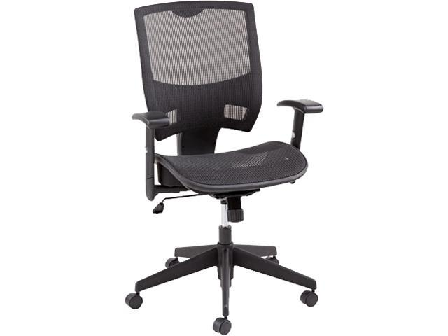 Alera Epoch Series EP4218 (ALEEP4218) All Mesh Multifunction Mid-Back Chair, Black