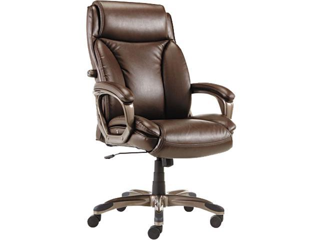 Alera Veon Series VN4159 (ALEVN4159)Executive High-Back Leather Chair, w/ Coil Spring Cushioning, Brown