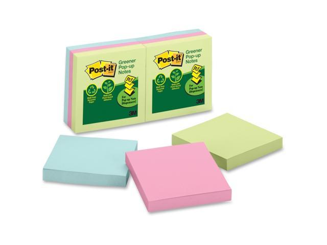 3M R330RP6AP Post-it Greener Notes Original Recycled Pop-up Notes