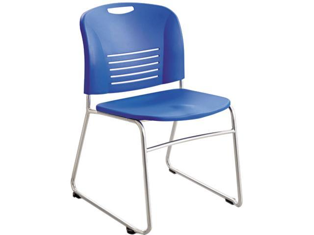 Safco 4292LA Vy Sled Base Stack Chairs,Plastic Back/Seat,Blue