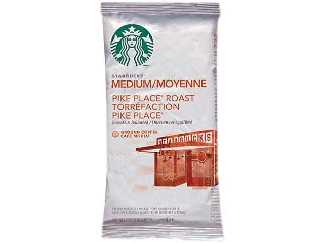 Starbucks 11018197 Coffee, Pike Place, 2.5oz, 18/Box