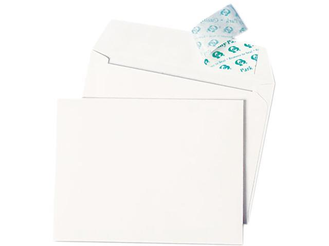 Quality Park 10740 Greeting Card/Invitation Envelope, Contemporary, Redi-Strip,#51/2, White,100/Box