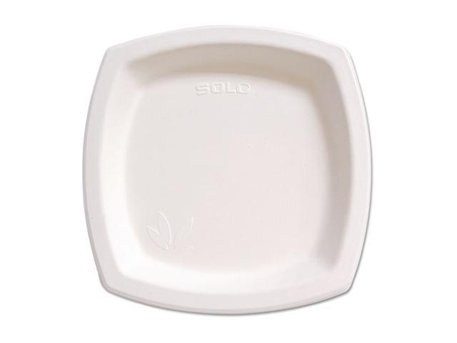 """Safco 8PSC2050PK Bare Eco-Forward Dinnerware, 8.25"""" Plate, Ivory, 125/Pack"""