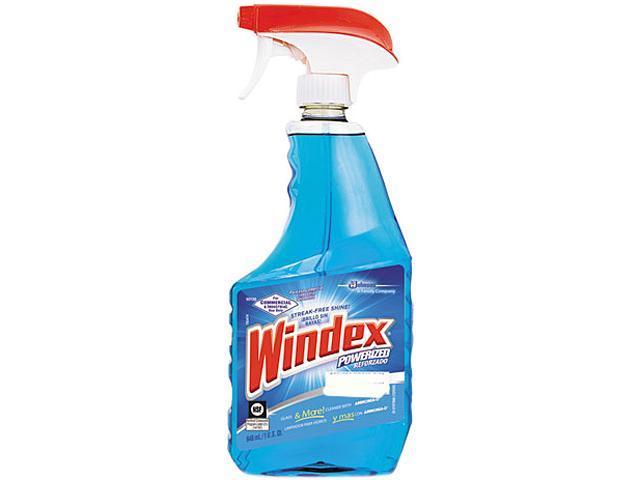 Windex DRK 90139 Powerized Glass Cleaner with Ammonia-D RTU 12 x 32 oz./946 mL Trigger Sprayer