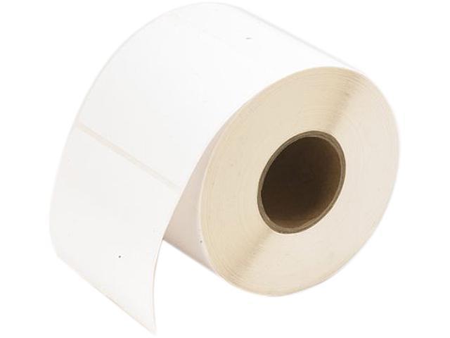 "Primera 74807 TuffCoat High-Gloss Label - 4"" Width x 4"" Length - Square - 625/Roll - 3"" Core - Paper - Inkjet - White, 1Roll"