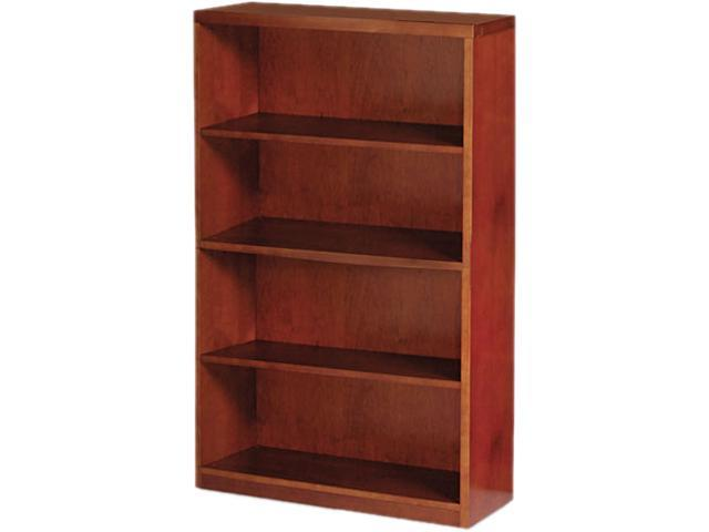 Mayline MBC3668MC Mira Series Wood Veneer 4-Shelf Bookcase, 34 3/4w x 12d x 68h, Medium Cherry