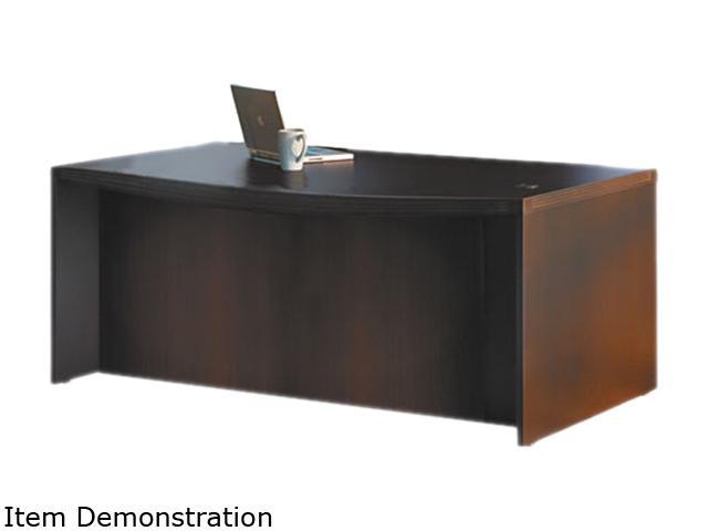 Aberdeen Series Laminate Bow Front Desk Shell, 72w x 42d x 29 1/2 h, Mocha