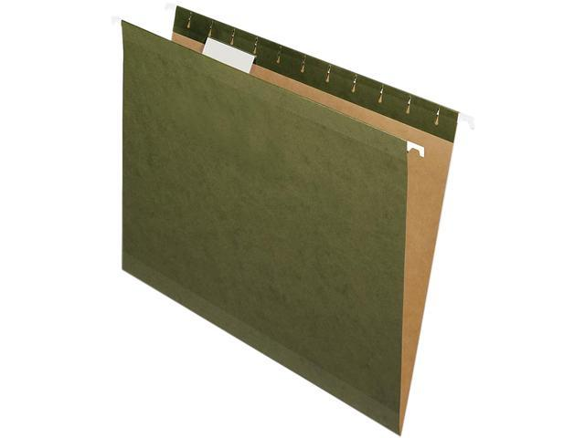 Nature Saver 08650 Hanging File Folders Recycled 1/5 Cut Letter 25/Box Green