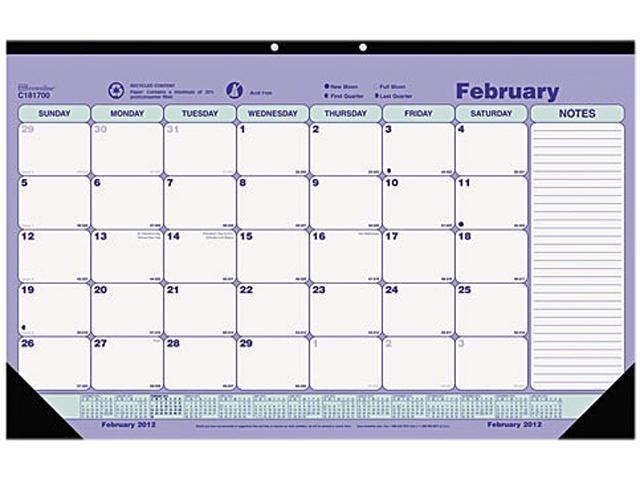 Blueline C181700 Brownline Monthly Desk Pad Calendar
