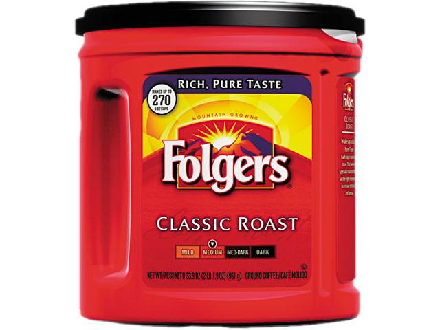 Coffee, Classic Roast Medium, Ground, 33 9/10oz Can, 1 Pallet (252 cans)