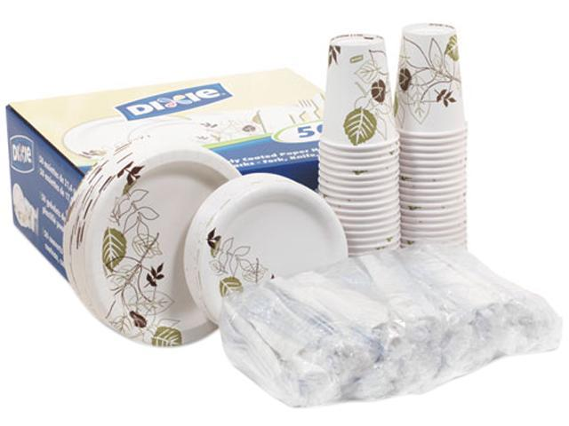 Dixie DXCOMBO50 Dinnerware Party Pack