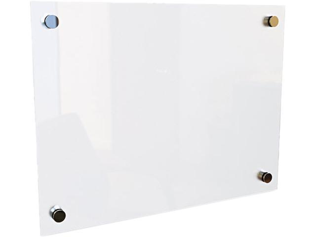 """Best-Rite 83949 - Enlighten Glass Board, Frameless, Frosted Pearl, 24"""" x 18"""" x 1/8"""", 1 Each"""