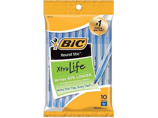 BIC GSMP101BE 10-pack Round Stic Ballpoint Pens